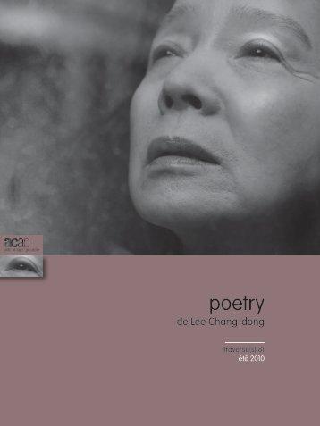 """Été - n°81 : """"Poetry"""" - ACAP • Cinéma • Pôle Image Picardie"""