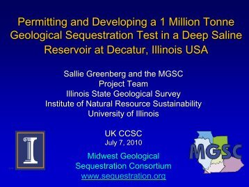 Update On Carbon Sequestration Project Rob Finley Illinois State - Illinois state geological survey