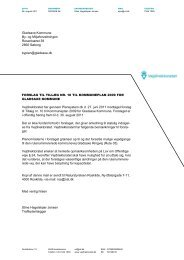 Tilkendegivelser til forslag til tillæg 10 til Kommuneplan 2009