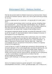 Statusrapport 2012 – Gladsaxe Jazzklub - Gladsaxe Kommune