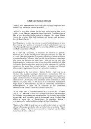 Aftale for Barnets Reform - Social-, Børne- og Integrationsministeriet