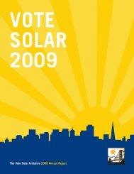 The Vote Solar Initiative 2009 Annual Report