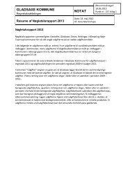 1. Bilag 1. Resume af Nøgletalsrapport 2013 - Gladsaxe Kommune