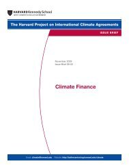 Climate Finance - Belfer Center for Science and International Affairs