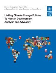 Linking Climate Change Policies To Human Development Analysis ...