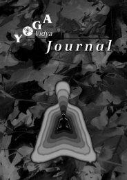 Journal 6 - Yoga Vidya