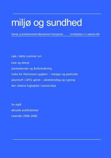 Miljø og sundhed nr. 31, september 2006 (PDF 926KB)