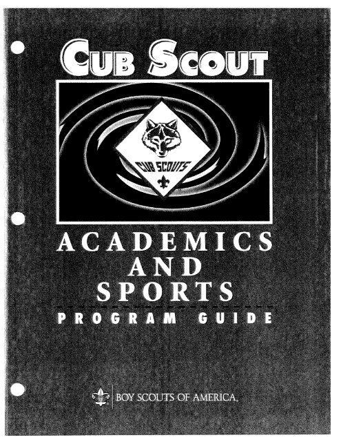 Program Guide – 2009 Edition – 02032010 - Cub Scout Pack 883