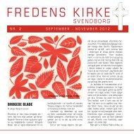 Kirkeblad nr. 2 2012 - Fredens Kirke