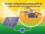 (SUN) Act - The Vote Solar Initiative