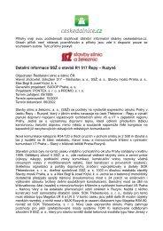 SSŽ: dokument o stavbě R1 517 Řepy – Ruzyně - CeskeDalnice.cz