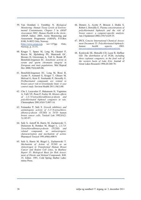 Miljø og sundhed, 17. årgang, nr. 3, december 2011. ( 798 KB)