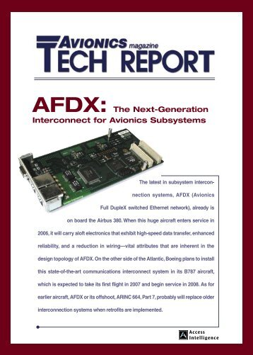 AFDX: The Next Generation Interconnect for ... - Aviation Today