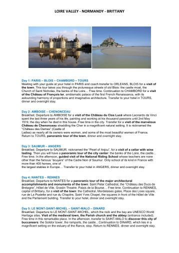LOIRE VALLEY - NORMANDY - BRITTANY - France Travel Direct