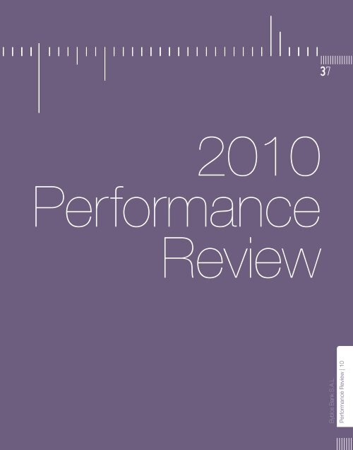 Performance Review - 2010, December - Byblos Bank
