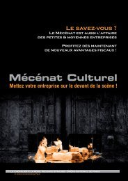 Mécénat Culturel - Ministère de la Culture et de la Communication