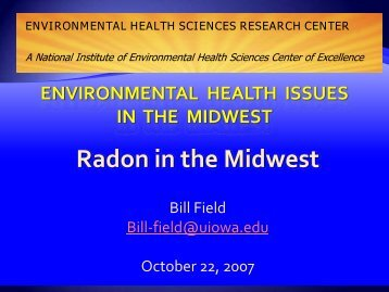 Radon in the Midwest - The Environmental Health Sciences ...