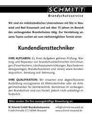 Kundendiensttechniker - Schmitt Feuerwehrtechnik
