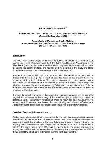 Executive Summary - the Palestinian Refugee ResearchNet