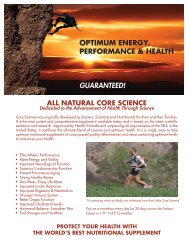 new core science brochure side 1 copy - Your Health Store