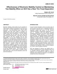 Effectiveness of Electronic Stability Control on Maintaining Yaw ...
