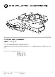Teile und Zubehör - Einbauanleitung - YABW