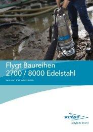 Flygt Baureihen 2700 / 8000 Edelstahl - Water Solutions