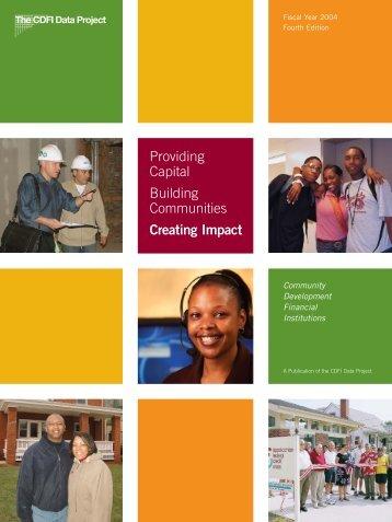 Providing Capital Building Communities Creating Impact - Field