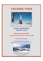 VACANZA YOGA - Sivananda Yoga Firenze
