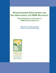 microenterprise development and self-employment for tanf recipients