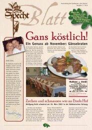 Zechen und schmausen wie an Etzels Hof - Gasthaus