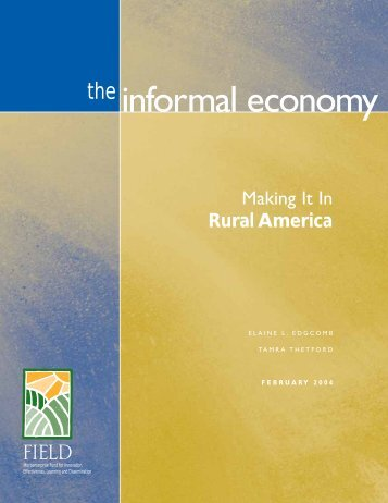 The Informal Economy: Making It in Rural America - Field