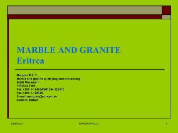 MARBLE AND GRANITE Eritrea