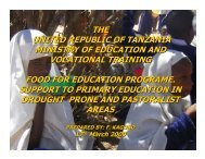 FOOD FOR EDUCATION SUPPORT TO PRIMARY EDUCATION INa ...