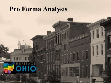 Pro Forma Analysis – Donovan Rypkema - Heritage Ohio