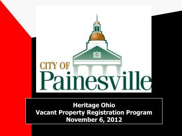 Painesville Vacant Property Registry - Heritage Ohio