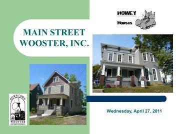 Howey Houses in Wooster – Tim Monea, Roger ... - Heritage Ohio