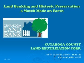 Land Banking & Historic Preservation PDF - Heritage Ohio