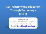 Transforming Education Through Technology - National Reporting ...