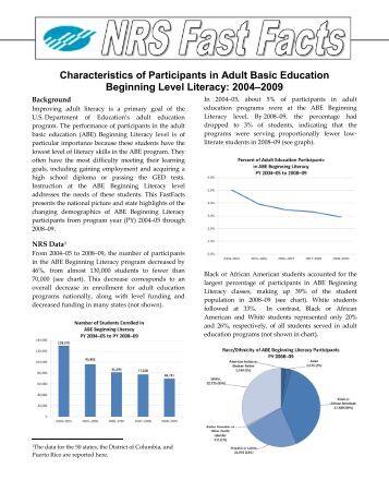 Adult basic education publication commit error