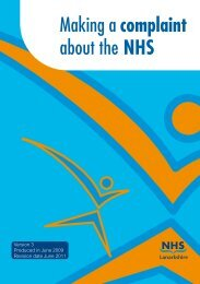 Making a complaint about the NHS - NHS Lanarkshire