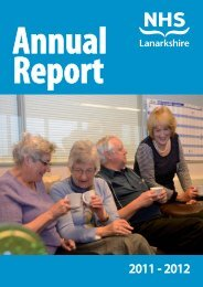 Annual Report and Accounts 2011-2012 - NHS Lanarkshire