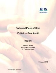 Preferred Place of Care Palliative Care Audit ... - NHS Lanarkshire