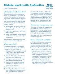 Diabetes and Erectile Dysfunction - NHS Lanarkshire