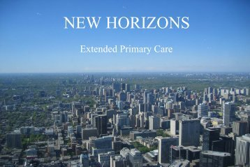 Extended Primary Care - Gregor Smith/Cathy Dunn - NHS Lanarkshire