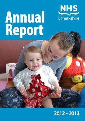 Annual Report 2012 - 2013 - NHS Lanarkshire