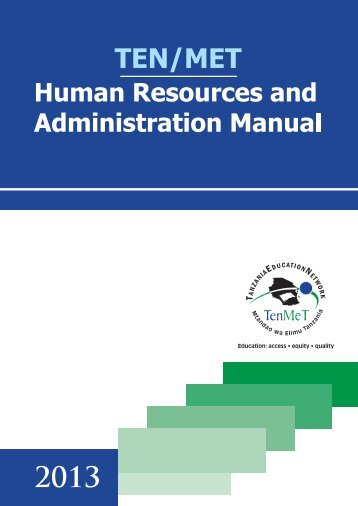 TENMET Human Resources & Administrative Manual - Tanzania ...