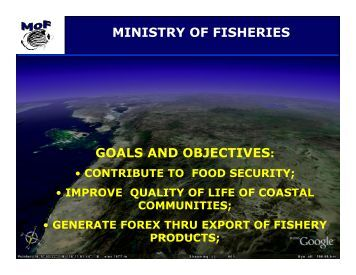 GOALS AND OBJECTIVES: MINISTRY OF FISHERIES