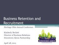 Attracting Business to Your Downtown – Kimberly ... - Heritage Ohio