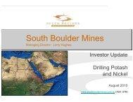 South Boulder Mines